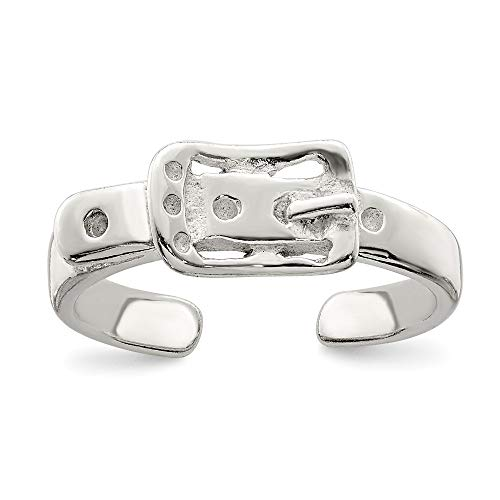 925 Sterling Silver Buckle Adjustable Cute Toe Ring Set Fine Jewelry Gifts For Women For Her ()