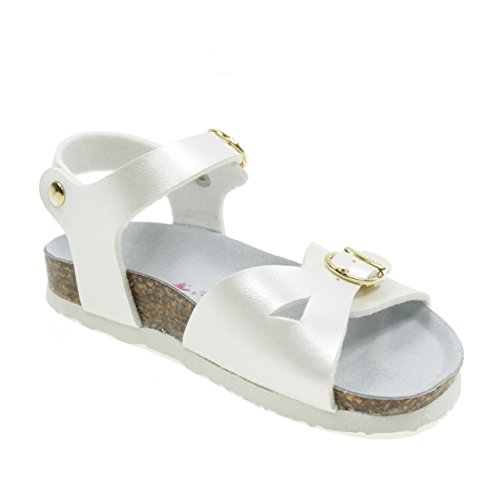 Made with White Buckle Sandals 22B1005B Model Bionatura Italy Birk in White xZqXEUEwP5