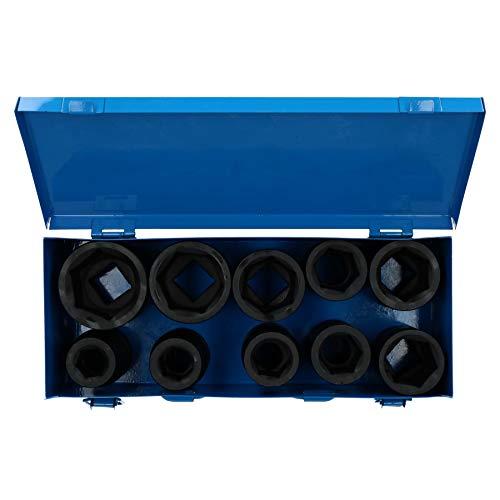 10pc Deep Hex Impact Socket Set Metric 1″ dr Sockets 24mm to 41mm 6 Sided TE317