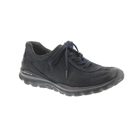 Gabor - Comfort Rollingsoft, Half Schoen, Nubuck Olie 36965-46 Blauw
