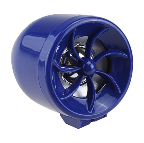 AGPtek® 12V Mini Multifunction Waterproof Motorcycle Audio Amplifier Car Alarm for iPod, Mobile phone,Mp3 Player,FM Radio Speaker + Remote Control(Blue)