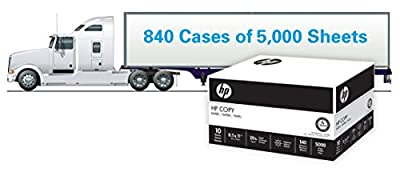 HP Paper, Copy Paper, 20lb, 8.5 x 11, Letter, 92 Bright, 840 / 5,000 Sheet Cases / 1 Truckload 200,000 Sheets(201000TRK), Made In The USA