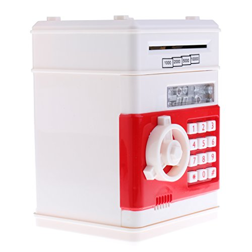 Baoblaze Caja de Ahorro de Dinero Automático de Plástico - 2 Colores - Blanco