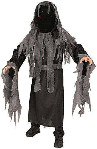 Black Mesh Face Robe - Rubie's Costume Dark Avenger Costume, One Color, Large
