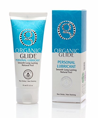 Organic Glide Natural Personal Lubricant, Probiotic Edible Lube. Parabens, Glycerin, Flavorings Free - for Men Women and Couples. Best for Menopause and Sensitive Skin