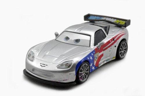 Hot sale Pixar Cars 2 Jeff Gorvette Silver Kmart Racer Series Metallic Finish loose