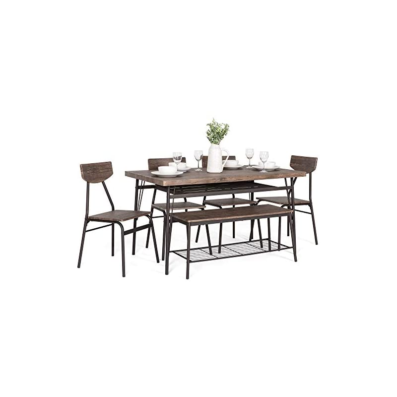 Best Choice Products 6-Piece 55in Wooden