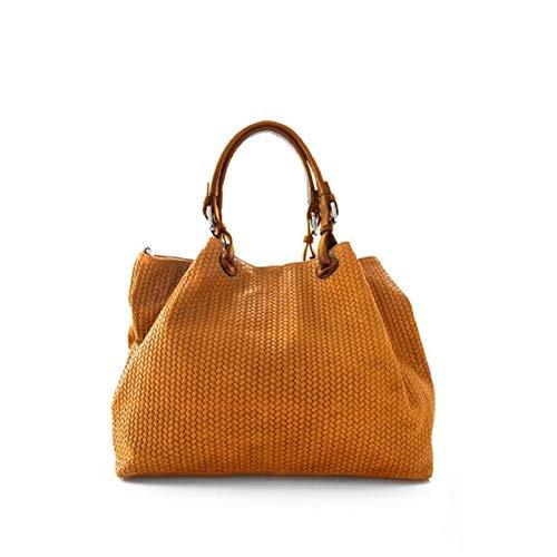 Donna pelle Marant Arancione intrecciata Grazia in stampata Borsa UtgwT5