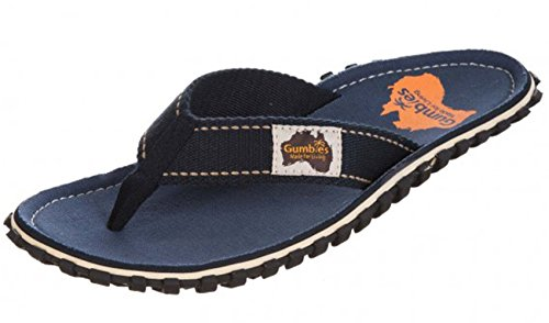 Gumbies ISLANDER Unisex Canvas Flip Flops Manly Red azul marino