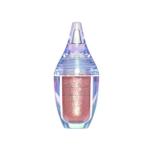 Lime Crime Diamond Dew Glitter Eyeshadow (Rose Goals). Iridescent Lid Topper (Rose Gold 0.14 fl oz).