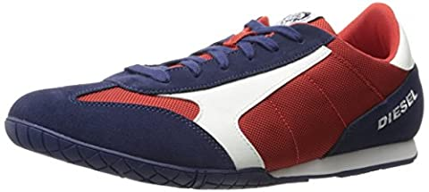 Diesel Men's Claw Action S-Actwyngs Sneaker, Blue Nights/Tango Red/White, 10.5 M US (Men Diesel Top)