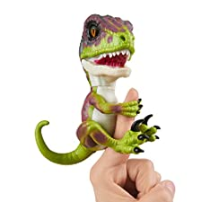 Untamed Raptor by Fingerlings - Stealth (Green) - Interactive Collectible Dinosaur - By WowWee