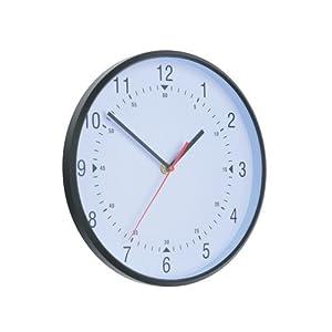 Alba Horclas, Reloj de Cuarzo Clásico de Pared, Plástico, Negro y Blanco, 25 cm 2