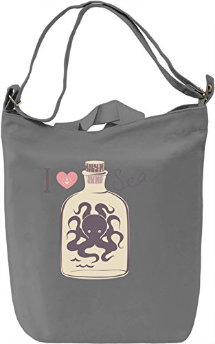 I love sea Borsa Giornaliera Canvas Canvas Day Bag| 100% Premium Cotton Canvas| DTG Printing|
