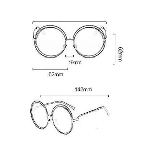 Gafas sol metal de DaoRier metal redondas unisex 142 MM 143 Azul 62 de clásicas UV400 Rojo vintage wAUFqdF