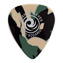 Planet Waves Camouflage Celluloid Guitar Picks, 100 pack, Heavy
