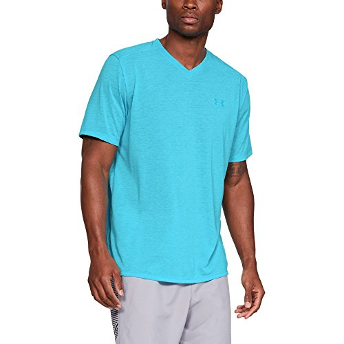 (Under Armour Men's Siro Short Sleeve V-neck Shirt, Deceit (439)/Deceit, Large)