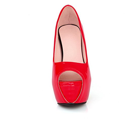 Adee - Sandalias de vestir para mujer Red