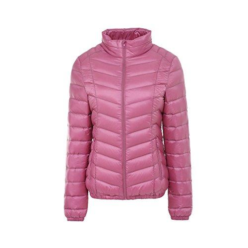 Parka Collar Cappotto Pink Outwear Piumino Windproof Ultra Donna Bmeigo Stand Giacche Leggeri YqFOO0