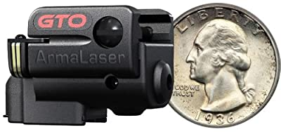 ArmaLaser Sub Compact Universal Picatinny Rail Mounted Laser System with Grip, Black, Left/Right by ArmaLaser Inc.
