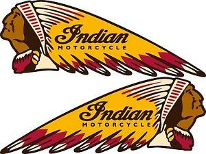 Motorcycle Decal Sticker - USTORE Vinyl Sticker Decal Indian Motorcycles War Bonnet Perfect for Helmets Weather Resist for Windows Car Cell Phone Bumpers Laptop Wall, 3.5