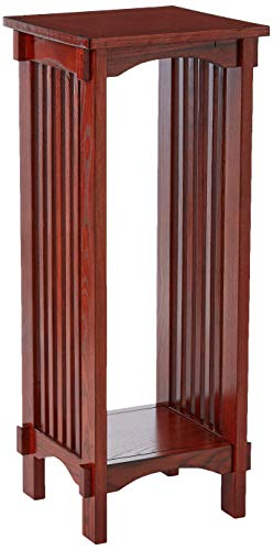 Square Plant Stand Warm Brown (Amish Glass Bookcase)