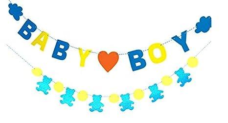 outflower Baby Boy/bebé niña bebé ducha Banner cumpleaños ...