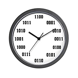 CafePress - Binary Clocks - Unique Decorative 10 Wall Clock