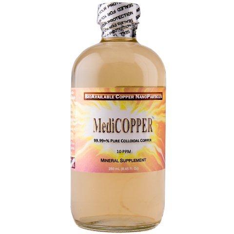 (MediCOPPER - True Colloidal Copper - 250 mL (8.45 Fl Oz) Clear Glass Bottle)