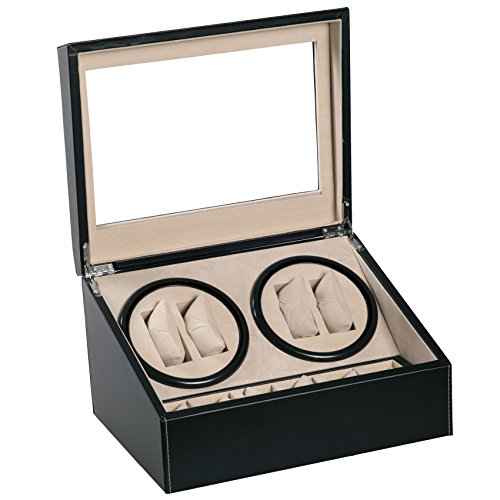 4-6-black-leather-quad-watch-winder-automatic-rotation-storage-display-jewelry-box-case-organizers-