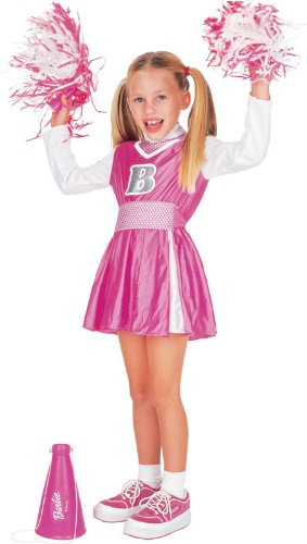 Cheerleader Barbie Costume - -