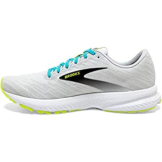 Brooks Mens Launch 7 Running Shoe - White/Nightlife/Capri - D
