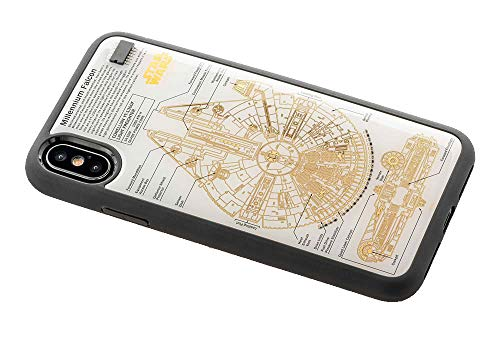 スター・ウォーズ FLASH M-FALCON 基板アート iPhoneXケース 白の商品画像