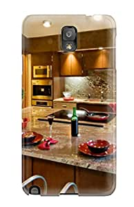Galaxy Case - Tpu Case Protective For Galaxy Note 3- Granite Countertops And Backsplash With Large Kitchen Island