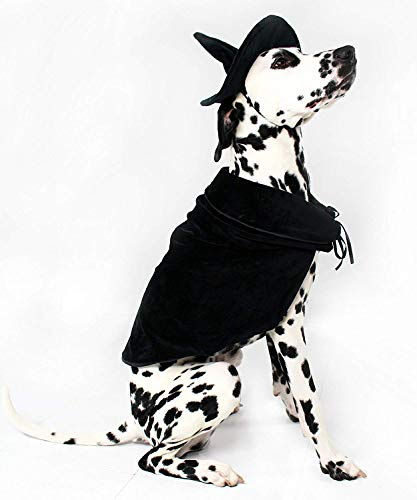 Midlee Halloween Witch Cape and Hat Dog Costume (X-Large)]()