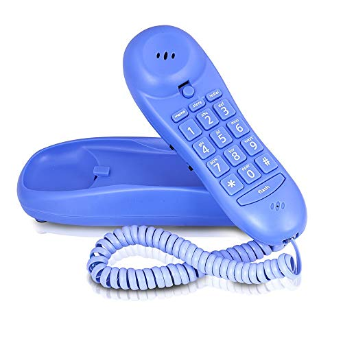 Slimline Blue Colored Phone For Wall Or Desk With Memory ()