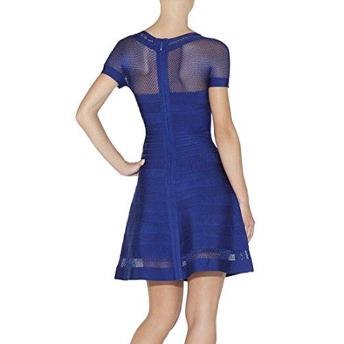 Kleid Blau Blau HLBCBG Damen Damen HLBCBG 8anCRq1