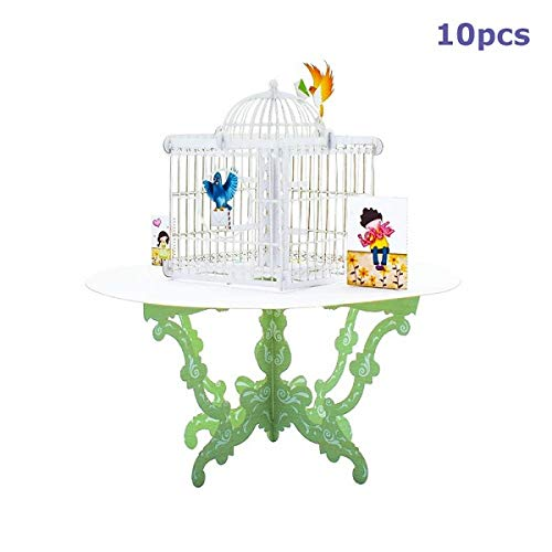 westtreg 10 Pack 3D Birdcage Pop UP Cards Tarjeta de Regalo ...