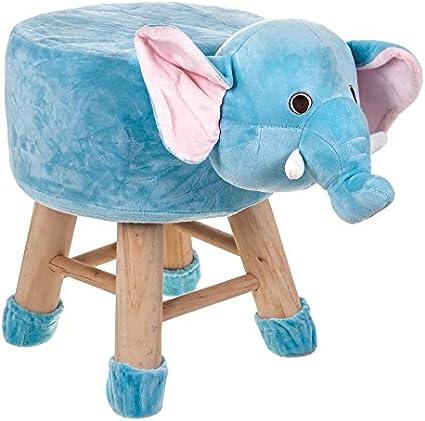 LUXURY WOOD WOODEN FOOT STOOL ANIMAL DESIGN KID CHAIR SEAT CHILDREN BABY ROUND