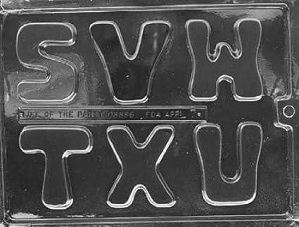 Fábrica de Chocolate en letras grandes S-U molde del Chocolate