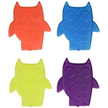 Fit & Fresh Cool Coolers Slim Owl Shaped Lunch Ice Packs, Multicolor, Set of 4
