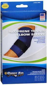 Sport Aid Neoprene Tennis Elbow Sleeve LG - 1 ea, Pack of 4 by SportAid