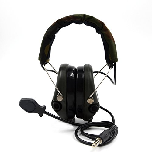 Impact Sport Sound Amplification Electronic Earmuff, Classic Green by Dolphin