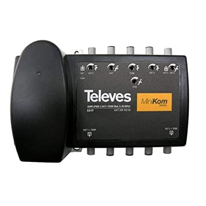 Televes 5317 - Central amplificador ict corriente alterna minikom 2 fi+matv