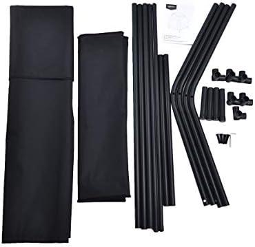 AmazonBasics Elevated Portable Pet House, Medium 43 x 35 x 30 Inches , Black