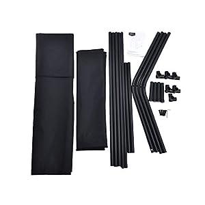 AmazonBasics – Caseta para mascotas, elevada, portátil, mediana, negra