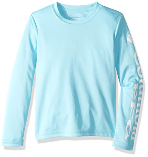 Columbia Boys' PFG Terminal Tackle Long Sleeve Tee , Coastal Blue, White, Large ()
