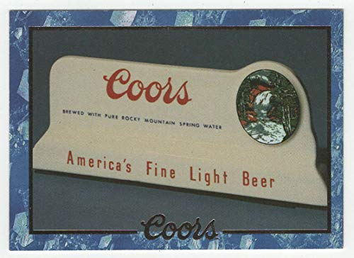 Ceramic Bar Sign - Coors Cards (Trading Card) # 28 - Coors Brewing 1995 NM/MT