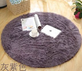 SVI Top Finel Hot High Quality Floor Mats Modern Shaggy Round Rugs and Carpets for Living Room Bedroom Carpet Rug for Home Yoga Mat grey 80cmx80cm