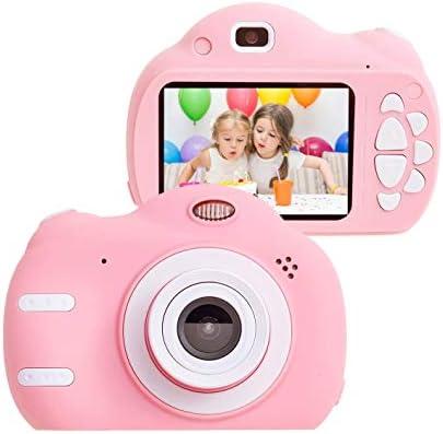 キッズカメラのおもちゃ4-8歳の女の子のための子供のベスト誕生祭ギフト用3-9歳の女の子のギフトコンパクトカメラ(ピンク)のために